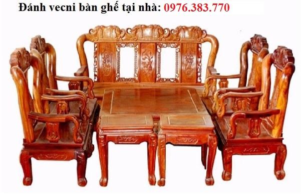 đánh vecni bàn ghế tại nhà