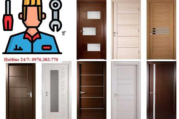 Mẫu cửa thông phòng gỗ công nghiệp